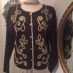 IB Diffusion Black Holiday Sweater for sale